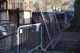 Access to the animal area is blockaded.
